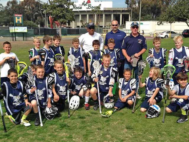 The SCV Youth Sports Association Wildcats Lacrosse team at the Lacrosse Jamboree Feb. 22 in Pasadena at the Rose Bowl. Courtesy photo