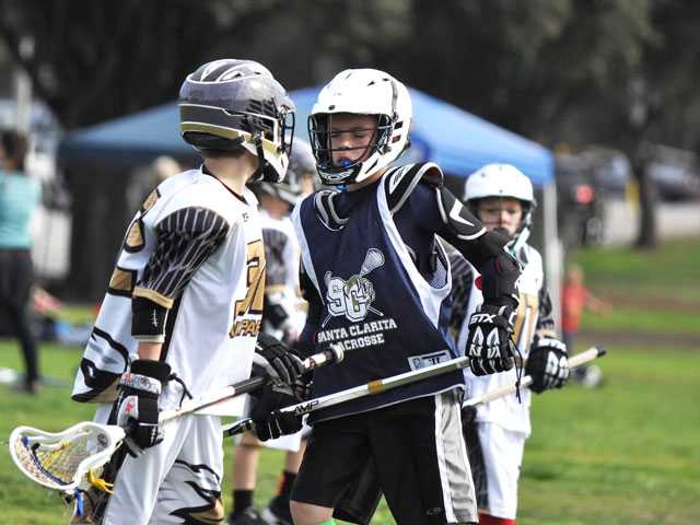 "It's ""game on"" for the players at the Lacrosse Jamboree. Courtesy photo"