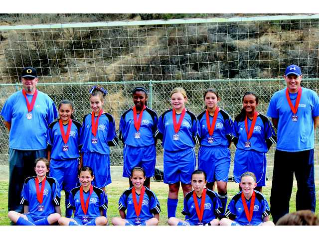 After an undefeated record in pool play, the Saugus Girls under 12 A All-Stars took second place in the Santa Clarita Valley Area Playoff. Led by Saugus residents Head Coach Mickey Anderson and Assistant Coach Jeff Smith, the All-Stars will be representing the Santa Clarita Valley and advanced to the Section Playoff at the Kern County Soccer Park March 1 and 2 in Bakersfield.  Courtesy photo