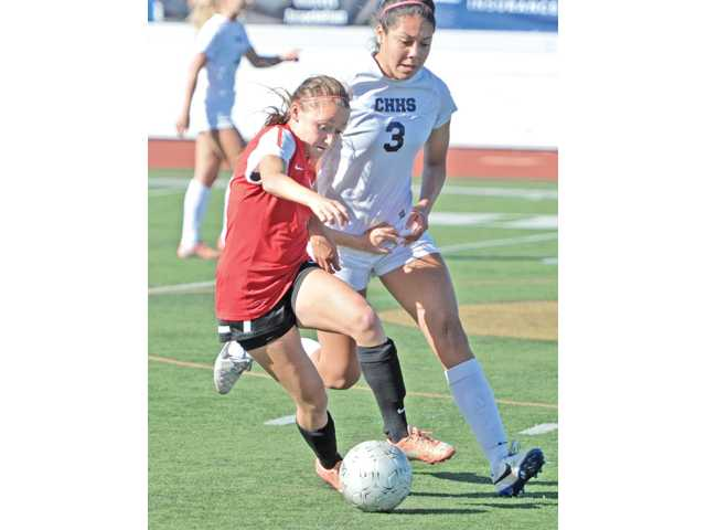 Hart senior Sophie Cortes, left, was voted this year's Foothill League Player of the Year.