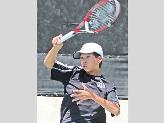 Golden Valley No. 1 singles player and junior Brandon Yu is entering his third year of varsity play.