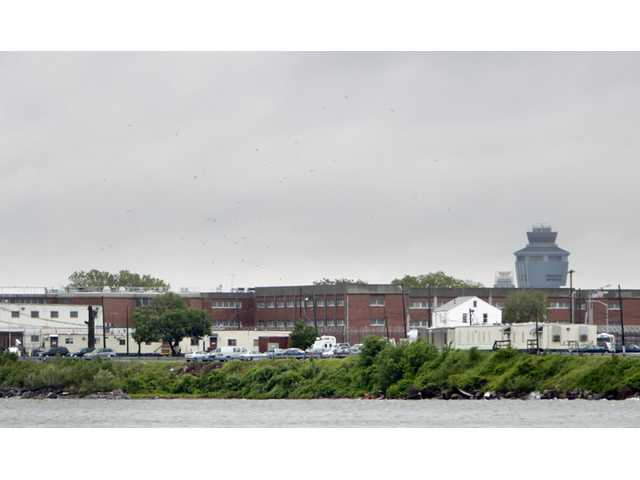 In this May 17, 2011 file photo, a section of the Rikers Island prison is seen in New York.