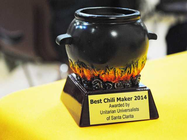 """Best Chili"" award at the Unitarian Universalists of Santa Clarita Valley chili-cook off fundraiser."
