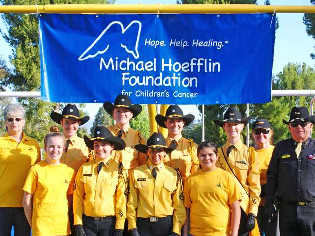 Troop A of the California Rangers equestrian group was honored to present the flags at the Michael Hoefflin Foundation Walk/Run for Children with Cancer on March 15 at COC. Troop A raised $300 for the foundation. Courtesy photo