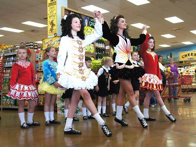 The O'Farrell School of Irish Dance helped Santa Clarita bring in St. Patrick's Day March 16 at Trader Joe's in Valencia. The girls danced a medley of traditional Irish Reels and Jigs. Brian LeVan/Courtesy photo