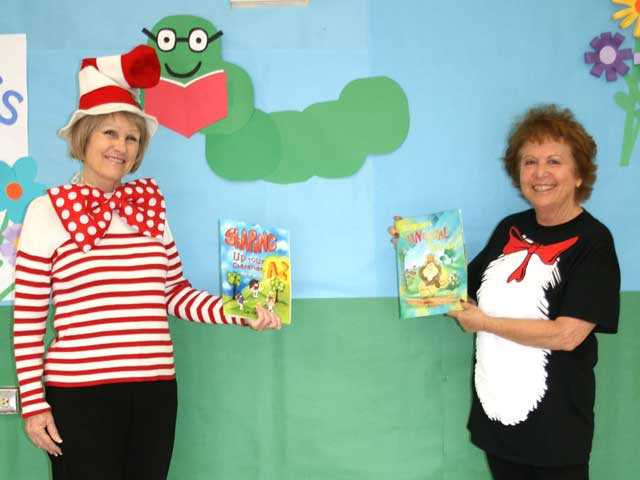 Carole Cliffe, right, and Linda Potter, a retired teacher who has been recovering from cancer. Potter formerly taught kindergarten and came out and helped with the Read Across America day. Courtesy photo