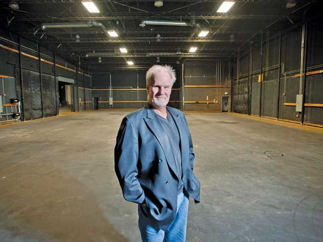 Steve Robertson, general manager of Filmmakers Sanctuary Studio, stands in the studio in Castaic.