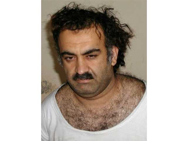 In this March 1, 2003 file photo, Khalid Sheikh Mohammed is seen shortly after his capture during a raid in Pakistan.