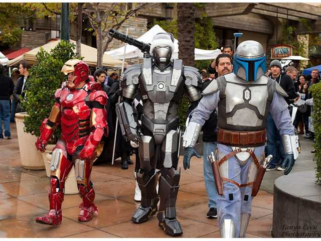 "Impersonators from the film ""Transformers"" attend the 2013 Combat Radio Christmas Event for Homeless Children at Salt Creek Grille in Valencia."