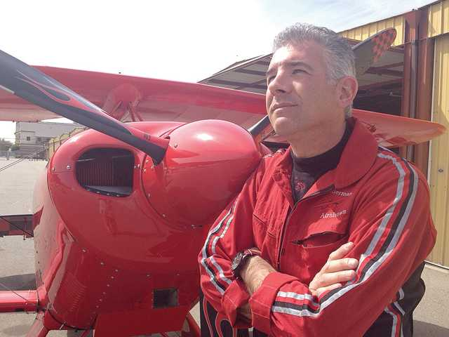 Pilot Spencer Suderman of Saugus has set a world record for aerobatics.