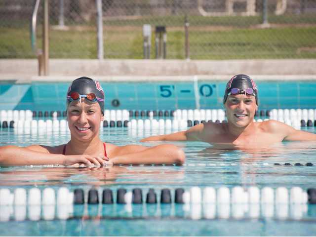 Hart junior swimmers Tamara Santoyo, left, and Cole Cogswell have helped Hart maintain its longstanding tradition of local excellence in the sport.