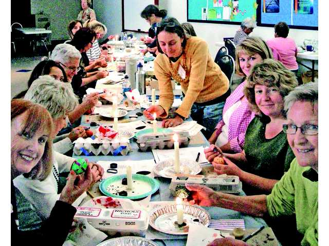 In preparation for the upcoming Easter holiday, St. Stephen's is hosting a special Pysanky Easter egg decorating class Sunday afternoon. Barbara Wampole and Theresa Morales will instruct attendees in the time-honored and specialized art of Pysanky.