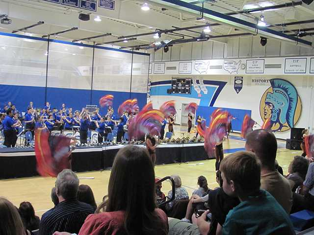 Saugus High School Band and ColorGuard. Courtesy Photo
