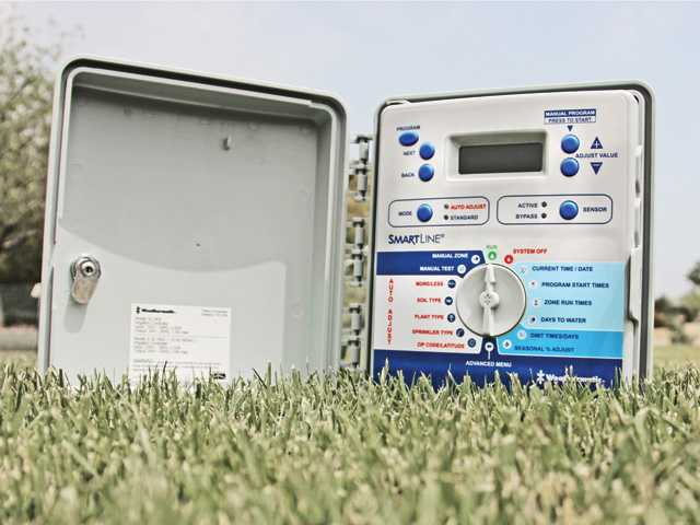 This photo provided by Castaic Lake Water Agency shows the smart irrigation controllers available to SCV residents for free. Photo courtesy of Castaic Lake Water Agency.