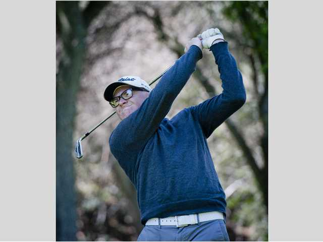 Saugus senior Braden Lewis earned medalist honors during Tuesday's Foothill League match at Valencia Country Club.