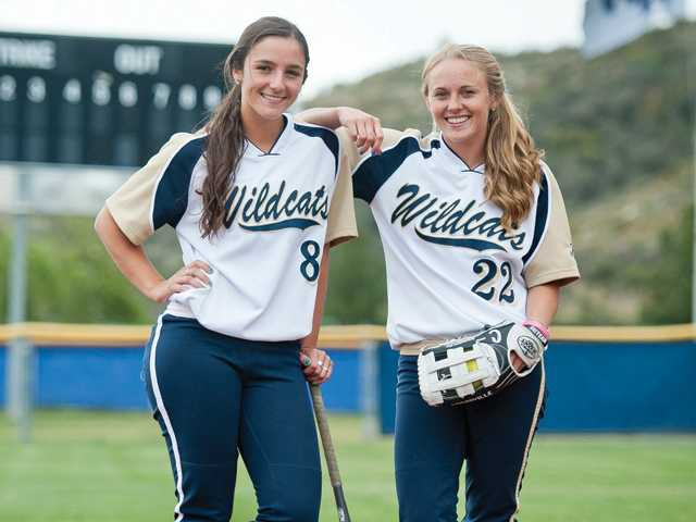Lauren Lindvall, left, and Mollie Sorenson are looking to take after their sisters and lead West Ranch to its third straight Foothill League championship.