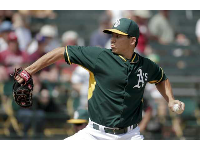 Saugus High School graduate Tommy Milone has worked his way back into the Oakland Athletics' starting rotation.
