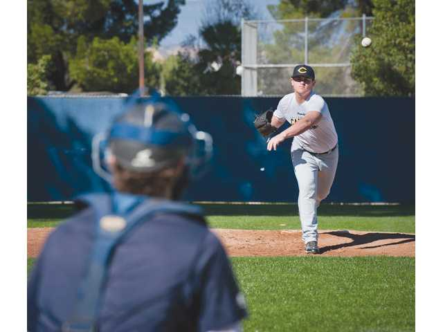 College of the Canyons pitcher J.C. Cloney transferred into COC after spending a year at Long Beach State.