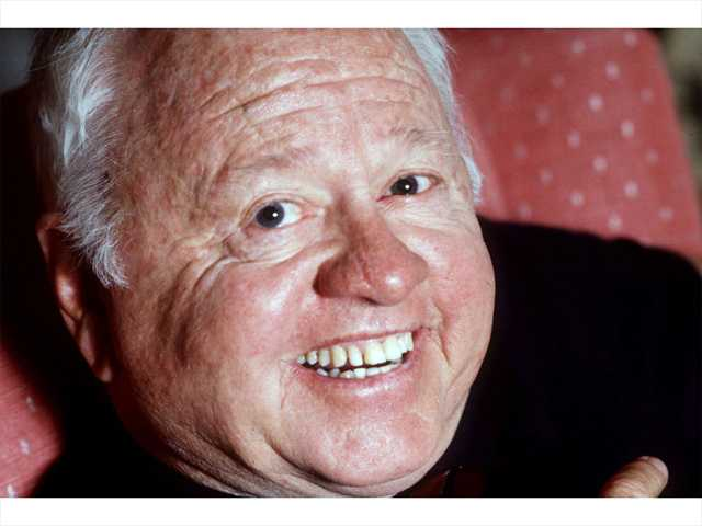 Entertainment legend Mickey Rooney is shown in this May 1987 file photo. According to The Associated Press, Monday, April 7, 2014, Rooney has died at age 93.