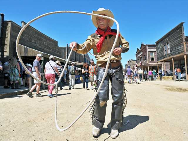 Trickroper Dave Thornbury entertains the crowd on Main Street at last year's Santa Clarita Cowboy Festival at Melody Ranch Motion Picture Studio in Newhall.