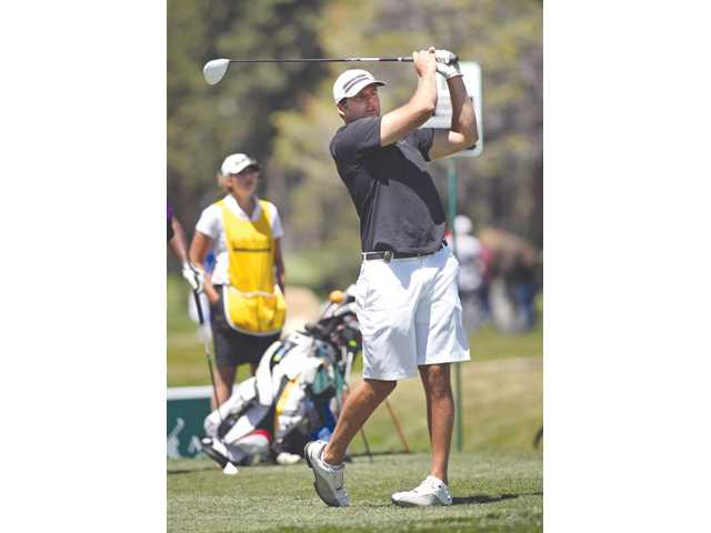 Former NFL quarterback and Hart graduate Kyle Boller plays in the American Century Celebrity Golf Championship on July 13, 2011 in Stateline, Nev.
