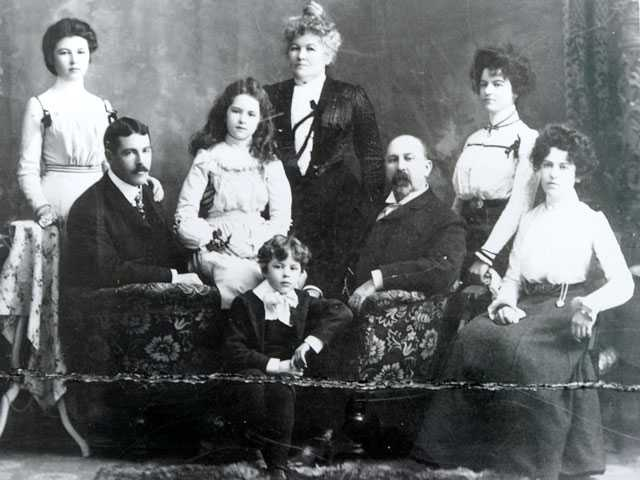 The Fortune family, left to right, Ethel, Robert, Alice, Charles, Mary, Mark, Clara and Mabel. Courtesy Photo