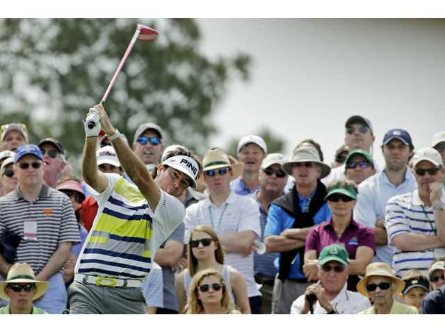 Bubba Watson tees off on the eighth hole during the second round of the Masters on Friday in Augusta, Ga.