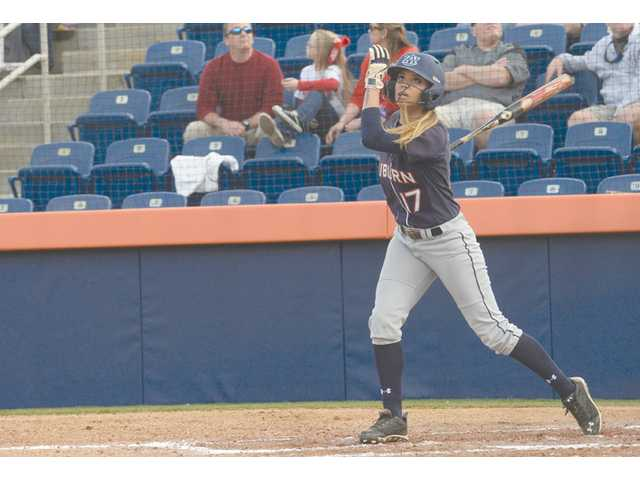 Golden Valley graduate Branndi Melero is one of Auburn's top hitters this season. Photo courtesy of AU Communications