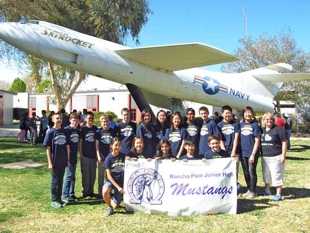 The Rancho Pico Mustangs' Science Olympiad team placed fourth, competing against 28 other junior high science teams. Courtesy Photo