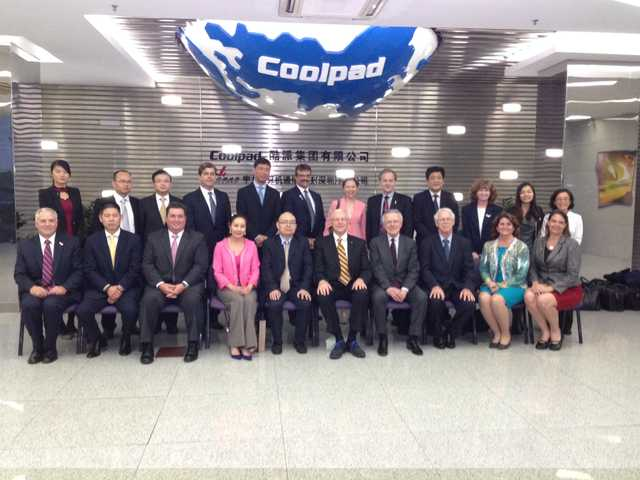 The Los Angeles County Investment Mission Delegation at Yulong Computers/Coolpad - the third largest manufacturer of cell phones.