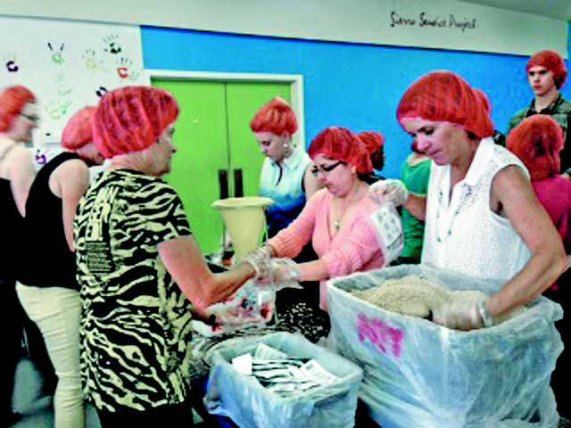 United Methodist Church organized a food packing event last year as part of a national Change of the World. The event was so successful, the church decided to do it again this year.