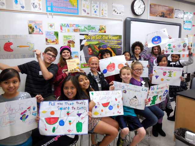 The Peachland Elementary students' Nutrition Advisory Council group with posters made for National Nutrition Month in March. Courtesy photo