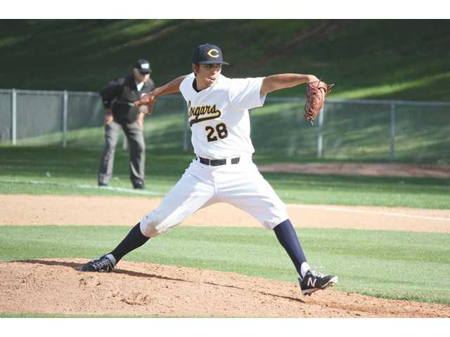 College of Canyons pitcher Ryan Cruz delivers against L.A. Mission College on April 11. COC earned a No. 18 seed in the Southern California Regional playoffs.