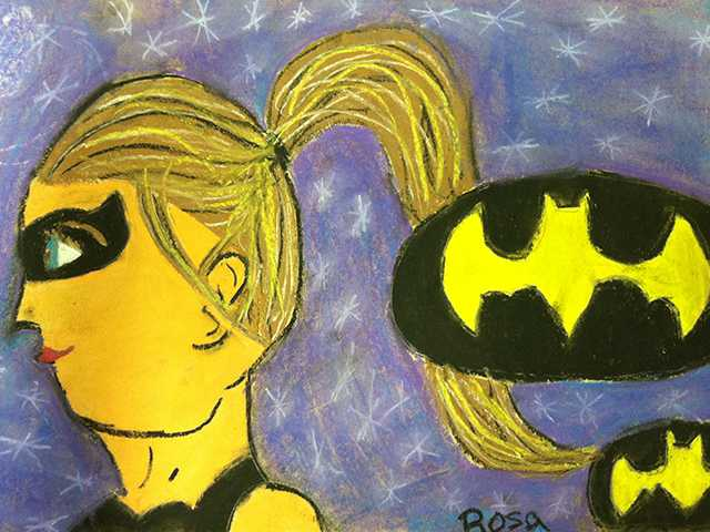 Valley View elementary school student Rosa, 6th grade. Artwork produced in teacher Tarah Davis's art class.