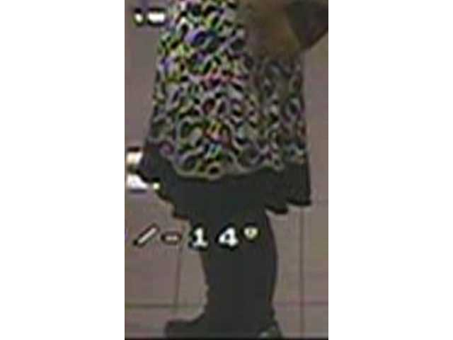 "This image of the ""upskirt photo victim's"" skirt was released Monday by Santa Clarita Valley sheriff's detectives in the hope the victim will come forward."