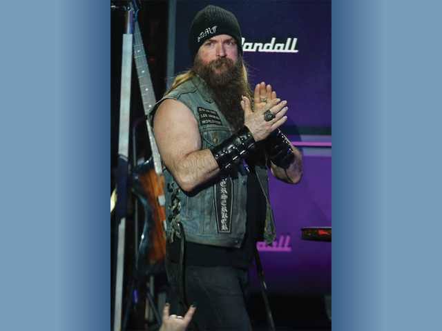 Zakk Wylde speaks on stage at the 6th Annual Revolver Golden Gods Award Show at Club Nokia in April in Los Angeles. Photo by Associated Press.