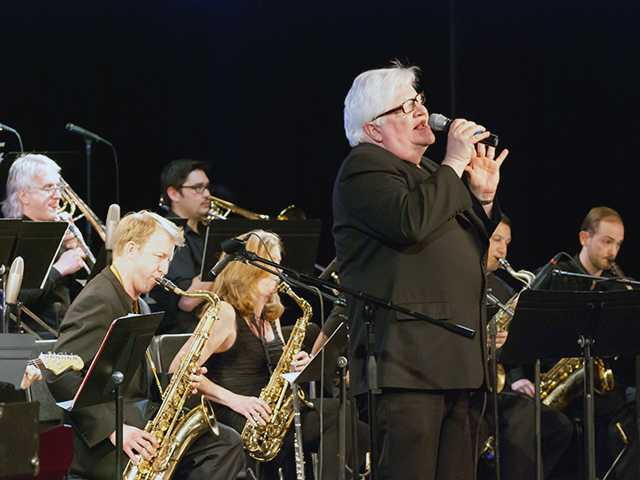 Emilio Terranova with the Go Jazz big band. The group will be performing again on June 13 at West Ranch High School Performing Arts Theater. Courtesy Photo