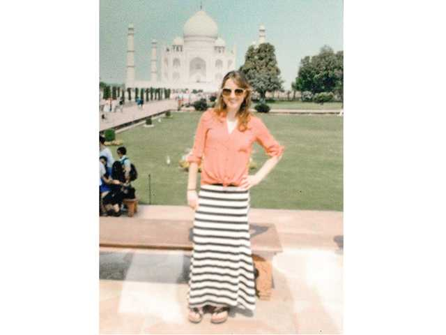 Katie in India.