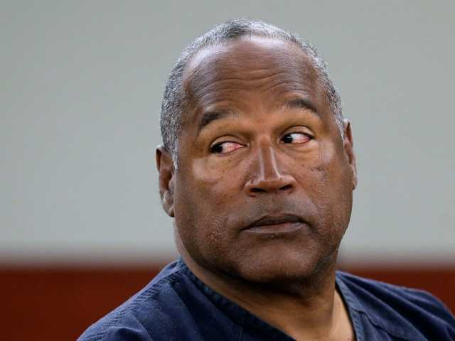 O.J. Simpson during an evidentiary hearing in Clark County District Court in Las Vegas on May 2013. Simpson's lawyers submitted a supersized appeal May 21, asking for a new trial.