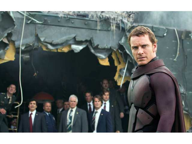 "This image released by 20th Century Fox shows Michael Fassbender in the film, ""X-Men: Days of Future Past."""
