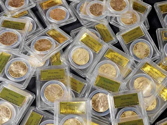 A treasure trove of rare gold coins discovered by a California couple out walking their dog is set to go on sale on Tuesday. The find is estimated to be worth some $11 million.