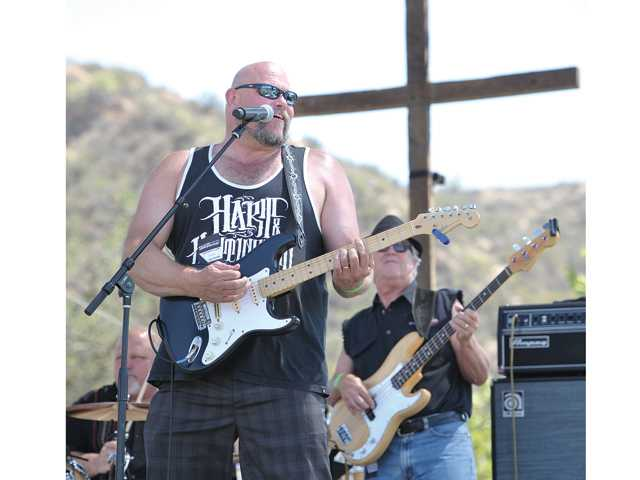 Local band Jim Gustin & Truth Jones performs on stage at GraceFest SCV held at Central Park in Saugus on Saturday. Kid's Charities of the Santa Clarita Valley hosted the inaugural fundraising event.