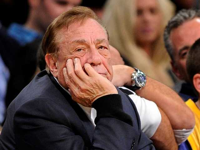 In this Feb. 25, 2011, file photo, Los Angeles Clippers owner Donald Sterling looks on during the first half of their NBA basketball game against the Los Angeles Lakers.