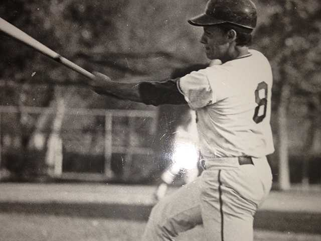 Robert Suarez playing baseball for Burbank High Varsity Baseball in 1972. One of the people met after fleeing Cuba was once fellow ball-player and then Dodger coach, Preston Gomez.