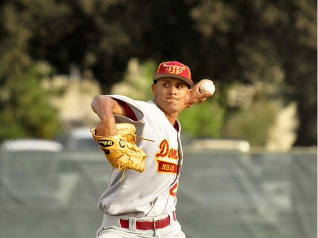 Valencia High graduate and Cal State Dominguez Hills pitcher Brennan Bernardino was selected 785th overall in the 26th round by the Cincinnati Reds. Photo courtesy of CSU Dominguez Hills Athletics