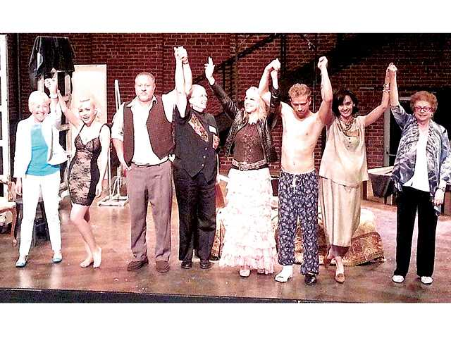 "The cast of ""Cat on a Hot Tin Roof"" takes a bow following its one-time-only Culver City production on Saturday night. Courtesy photo"