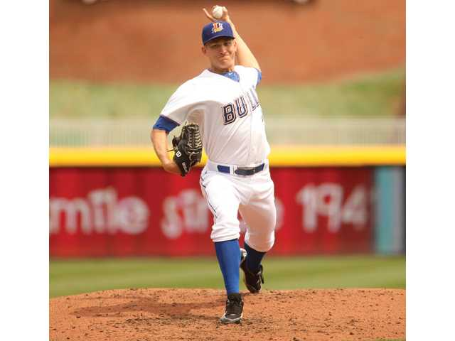 Hart High graduate Mike Montgomery is putting up impressive numbers this season for the Triple-A Durham Bulls, which is an affiliate of the Tampa Bay Rays. Photo courtesy of the Durham Bulls