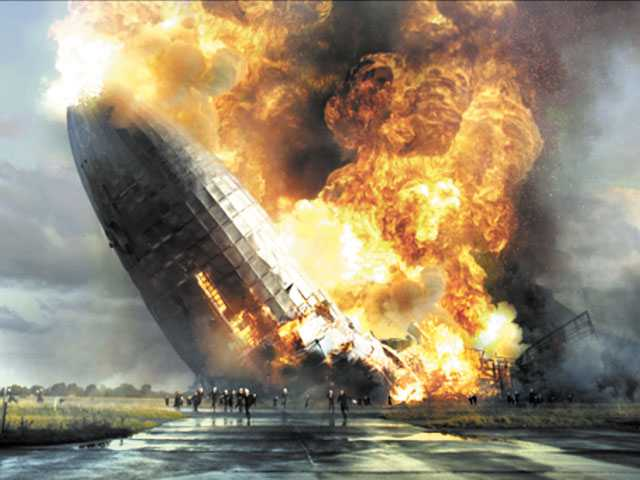 The arrival of the Hindenburg