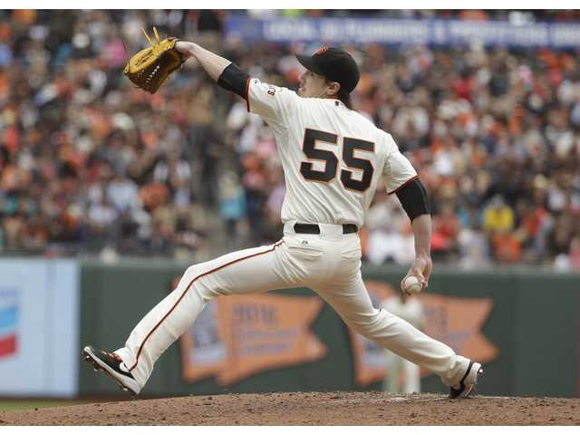 San Francisco Giants starting pitcher Tim Lincecum throws his second no-hitter against the San Diego Padres in San Francisco on Wednesday.