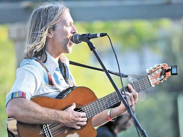 Christopher Hawley of the Christopher Hawley Rollers plays at Richard Rioux Park in Stevenson Ranch last Saturday.